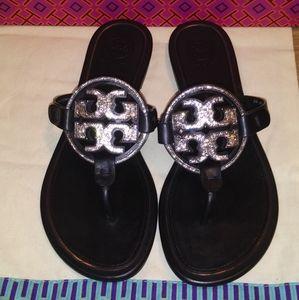 Tory Burch Embellished miller sandals